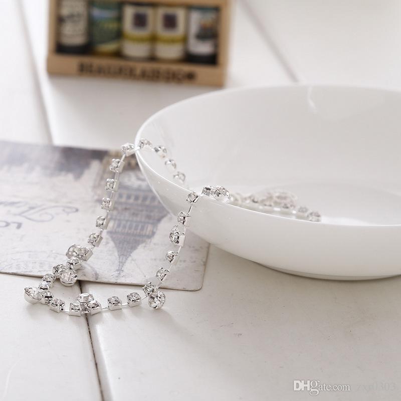 Серебряный Кристалл ножной браслет для женщин ноги цепи лодыжки браслет свадьба женщины ювелирные изделия для женщин подарок
