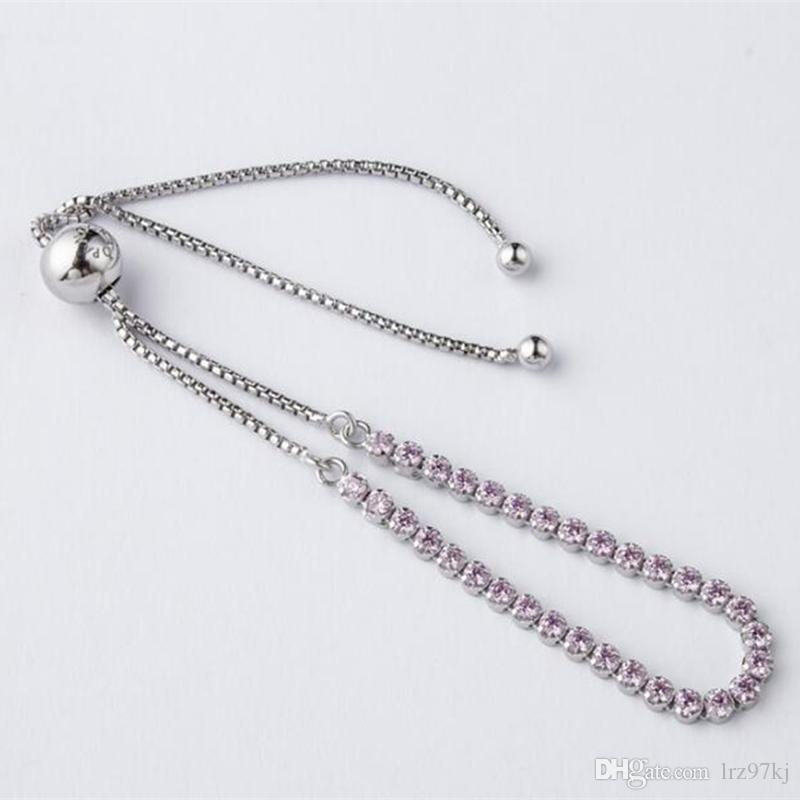6039e4184 2019 High Quality 2017 New 925 Sterling Silver Sparkling Strand Bracelet  With Pink Cz For European Pandora Style Charms And Beads From Lrz97kj, ...