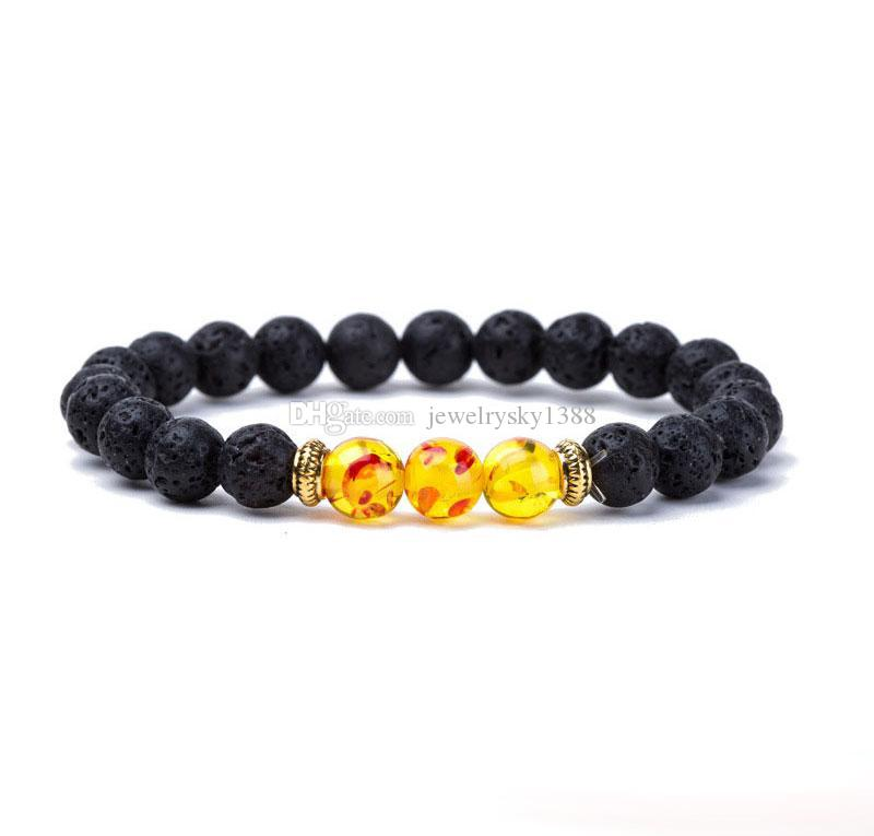 Wholesale New Natural Black Lava Stone Bracelets Reiki Chakra Healing Balance Beads Bracelet for Men Women Stretch Yoga Jewelry