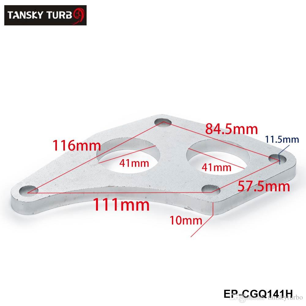 TANSKY -NEW Universal HIGH Turbo Inlet Flange For Subaru Sti Twin Scroll VF36 VF37 Up-Pipe EP-CGQ141H