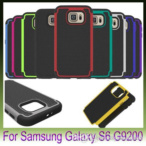 Für Samsung Galaxy S6 Edge S5 Mini Note4 Fußball Grid 2 In 1 Hybrid Combo Soft Cases Silikon Pc Hard Cover Roboter 9 Farben