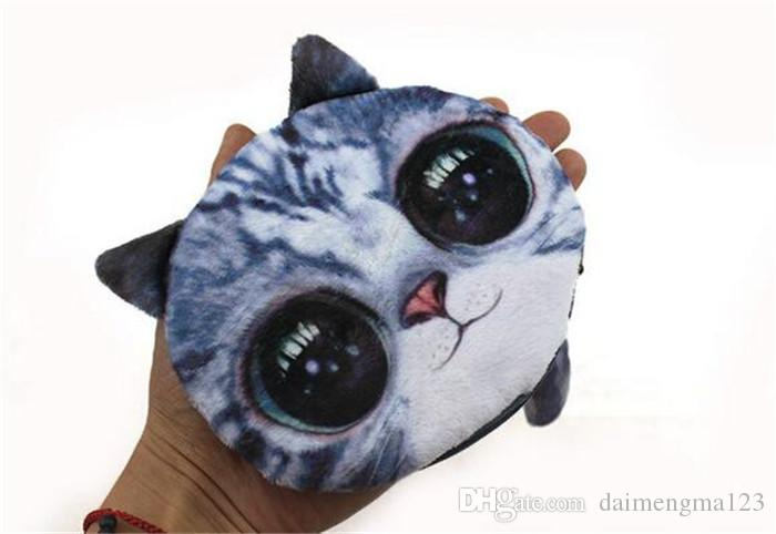 5 Design 3D Printer Cat face Cat dog Coin Purse Bag Wallet Girls Clutch Purses Change Purse cartoon handbag case D641