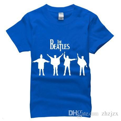 Hip Hop The BEATLES Rock Band Men T Shirts Fashion Street Skateboarding Sports Short Sleeve Cotton Man T-shirt Camisa AMD047