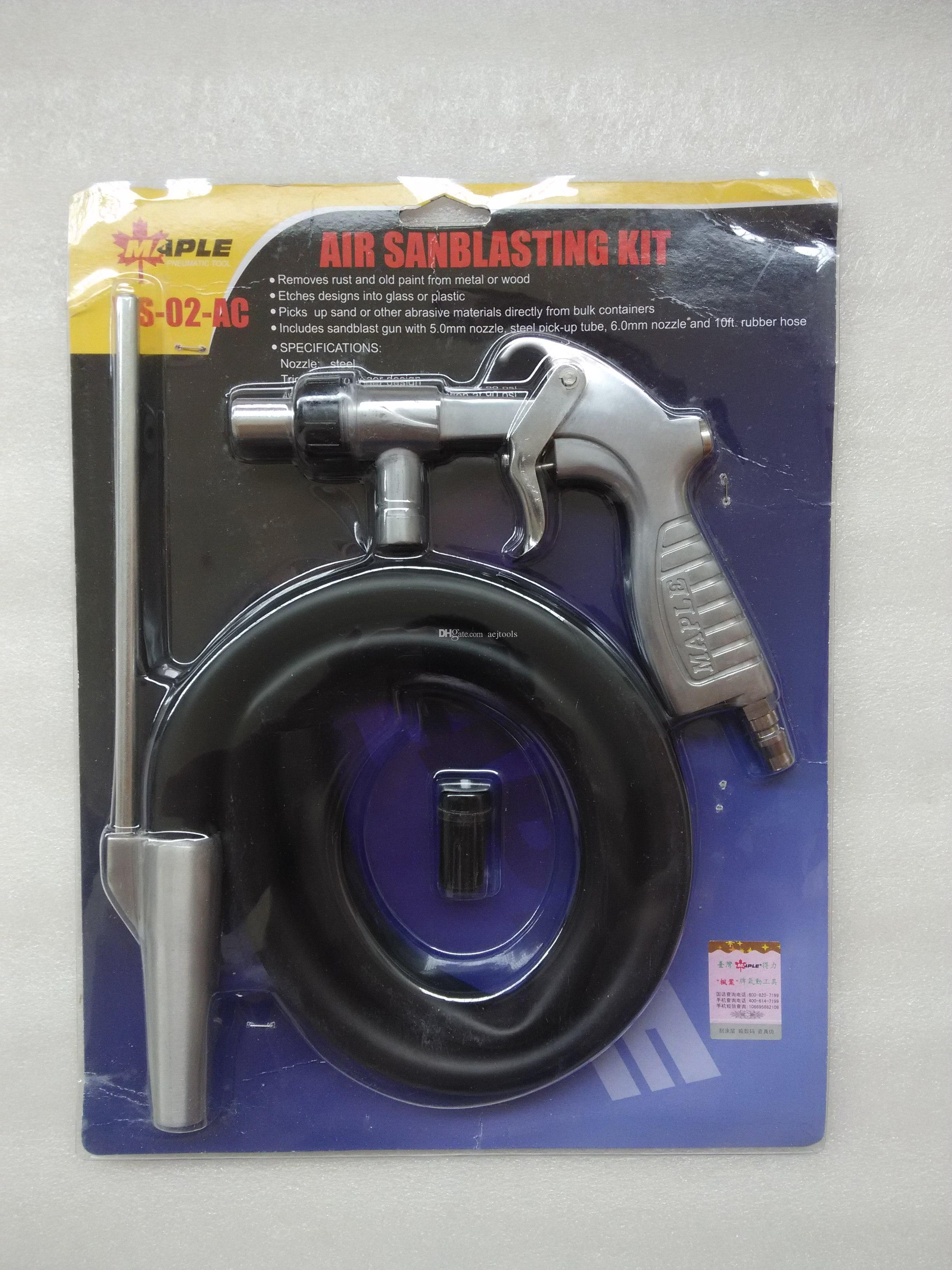 Air Sandblaster Air Sandblast Gun Kit with Extra Nozzles Free Ship