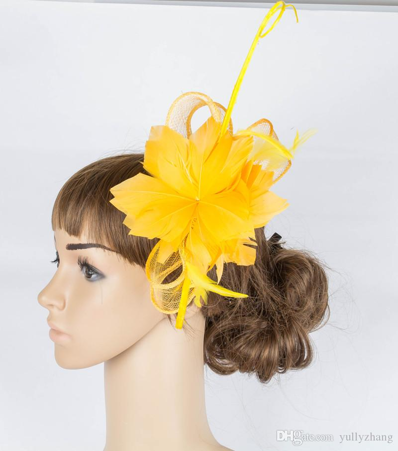 elegant sinamay material fascinator hats T-platform hair accessories party headpiece suit for all season MYQ078