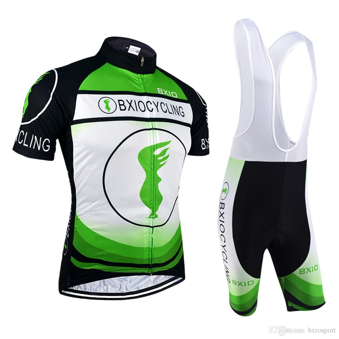BXIO Brand Green Cycling Jerseys Lycra Cycle Wear Sets Road Cycling Shorts  Suits Unisex Quick Dry Short Sleeve Cycling Clothes BX 0209O 017 Cool  Cycling ... 88e6b6ffd