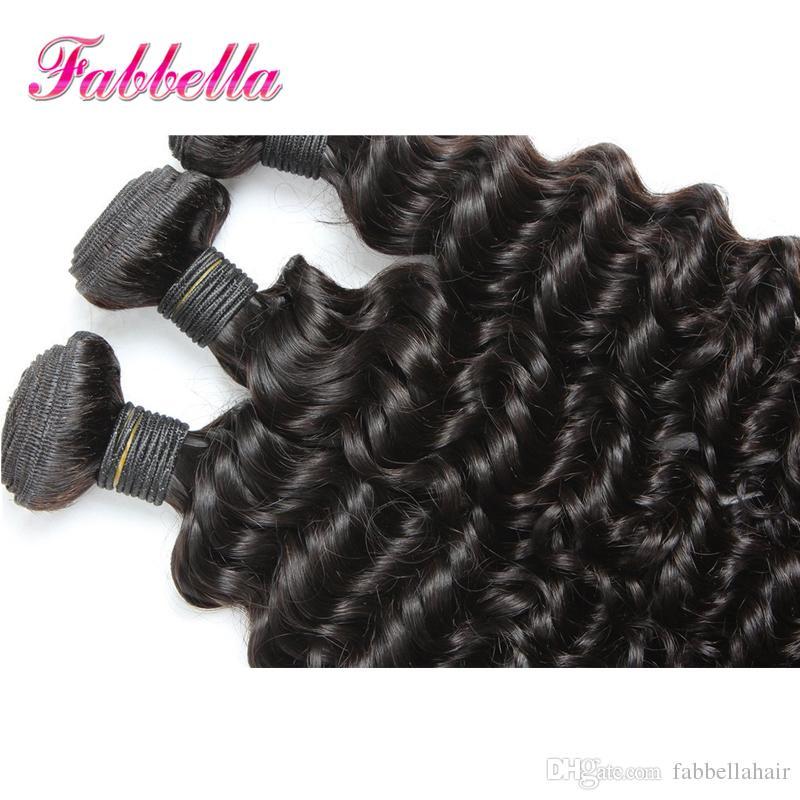 50% de descuento en cabello y belleza Extensiones rizadas de cabello humano brasileño 9A Calidad de rejilla Fabbella Hair Envío de gota