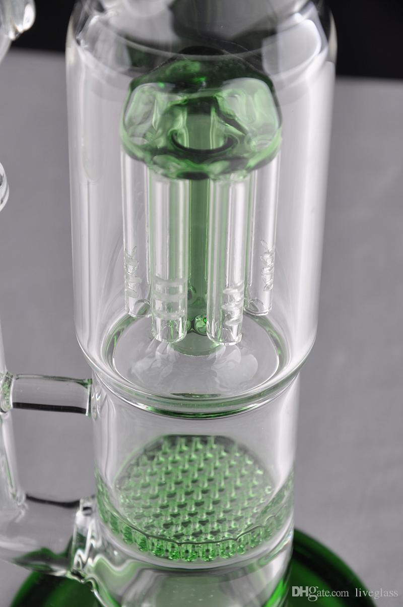 Venda quente Caliane longo vidro Bongs Oil Rigs Vidro Projeto Eggosphere combinação de plataforma bola com união fêmea 14 milímetros fab