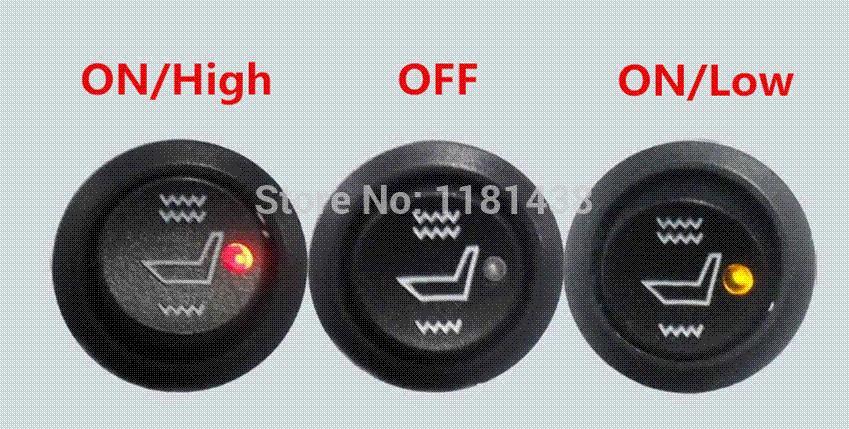 Universal Carbon Fiber Car Seat Heater Pads Set,Heated Seats,Car ...