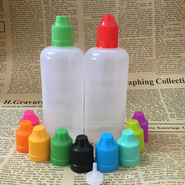 Schnelle DHL 100ml PE E Flüssigkeit leere Flaschen aus Kunststoff Soft-Tropfflaschen mit Kindergesicherte Caps Lange Thin Tipps E Cig Flasche