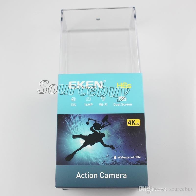 Yüksek kaliteli eken h6s spor kamera 2.0 + 0.95 çift ekran tam mod eis video 4 k wifi 170 süper lens su geçirmez eylem kamera