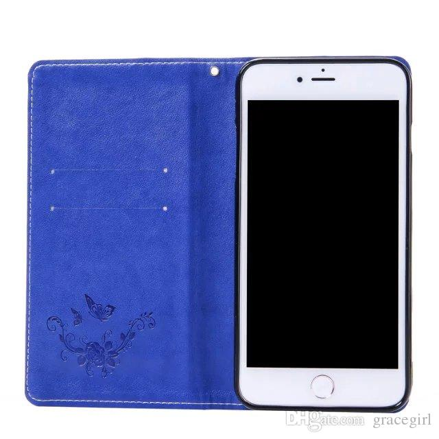 Strap Magnetic Suck Flip Leather Case For Iphone SE 5 5S 5C 6 7 I7 plus 6S 4 4S Flower Stand Wallet Pouch ID Card TPU Cover No Hasp