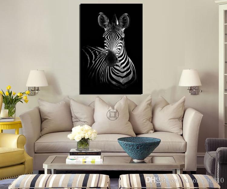 Zèbre moderne imprimé sur toile peinture Cuadros photo paysage animalier peintures à l'huile pour le salon artisanat décoratif pour la maison pas de cadre