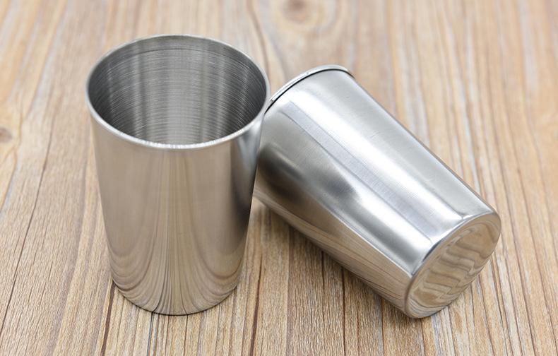 4 Größe MINI S M L Weinglas Flachmänner Edelstahl Tasse für Geist Trinkgefäß Säufer Whiskey Stoup Bierkrug Weinglas Oxhorn Flasche