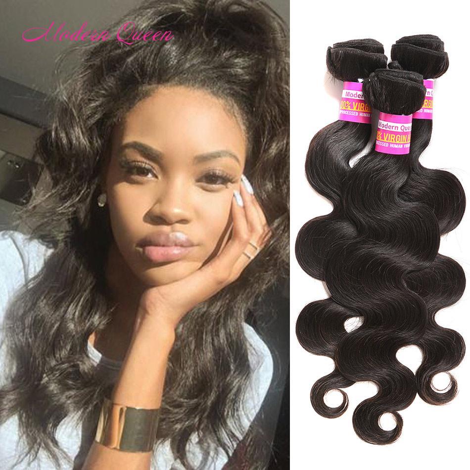 8a Wholesale Brazilian Body Wave Human Hair Weaves 3 Bundles Body