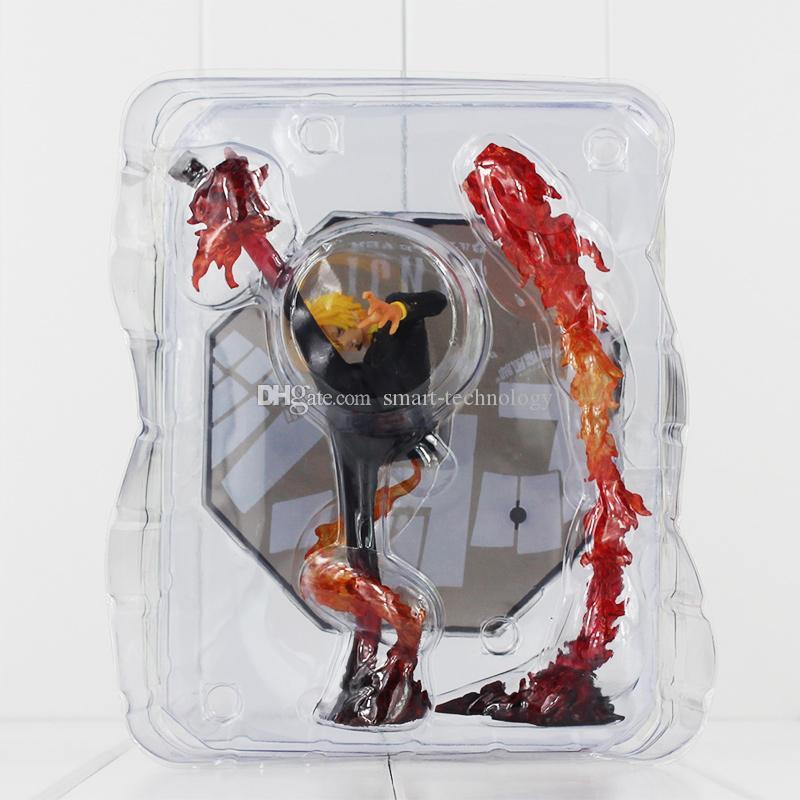 6.8 « » One Piece Anime Noir Leg Sanji bataille feu Version Boxed PVC Figurine modèle jouet pour enfants cadeau