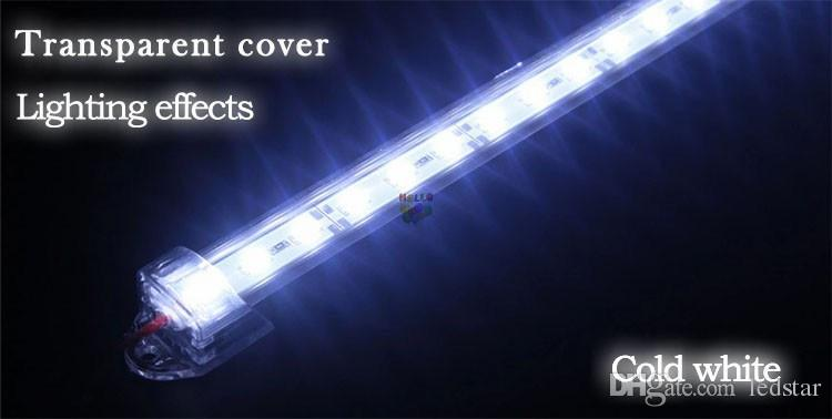"Waterproof Hard LED Strip 5630 SMD Led Bar 50cm 100cm LED Bar Light With ""u"" Style Shell Housing With End Cap + PC Cover"