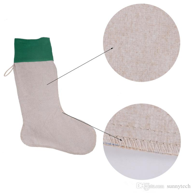 Envío gratis de alta calidad 2016 lona regalo de Navidad bolsas de lona de Navidad Navidad checvron media decorativo calcetines bolsos JF-06