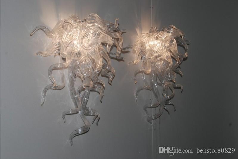 Arte del diseño del estilo de cristal soplado Lámparas de pared Mini y barato blanco decorativo de cristal de Murano aplique de la pared
