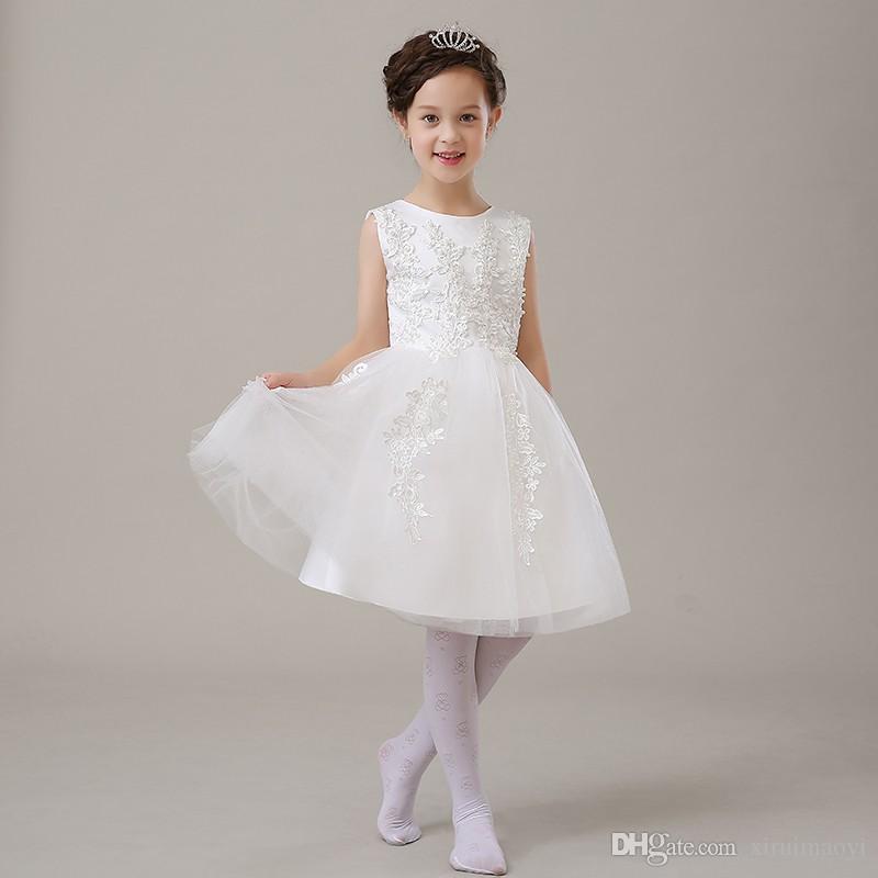 Glitz Sommer Perlen Baby Mädchen Hochzeit Kleid Taufe Kleid für Mädchen Kleinkind 1 Jahr Geburtstag Kleid Baby Mädchen Chirstening Kleid