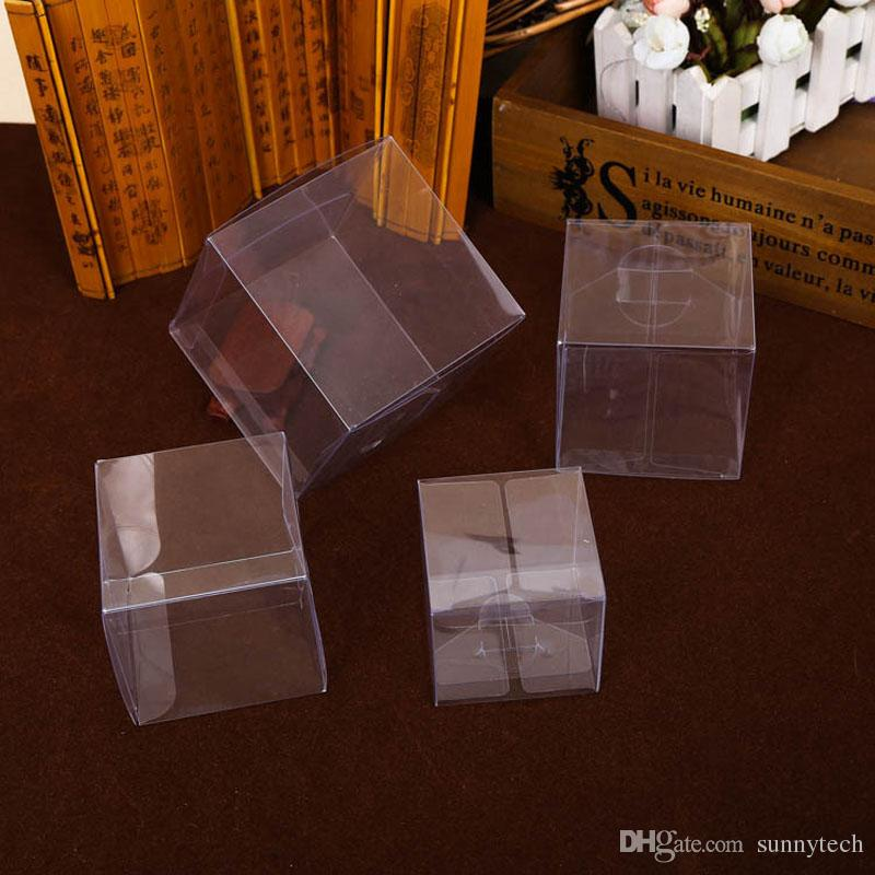 9*9*9cm Clear PVC Square Wedding Favor Gift Box Anti Scratch Muffin Cupcake Boxes Transparent Party Candy Bags ZA1363