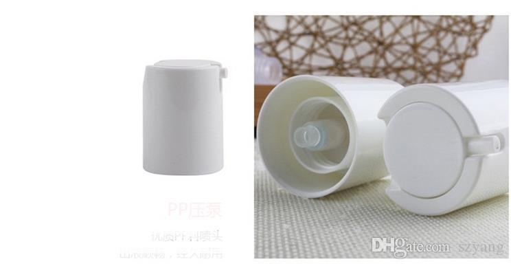 15 ml 30 ml 50 ml botella sin aire helado / mate botella de loción bomba de vacío botella utilizada para Cosméticos Containe envío rápido