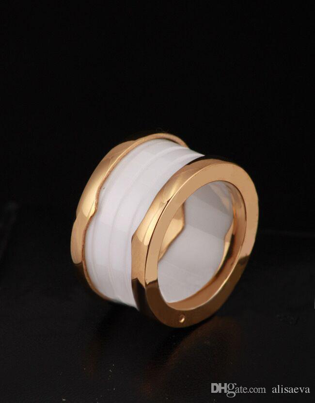 Offerta Speciale Nuovo Arrivo Da Sposa Anelli Classici Anelli Anello Primavera Anello in oro rosa 18 carati Titanio / Versione larga