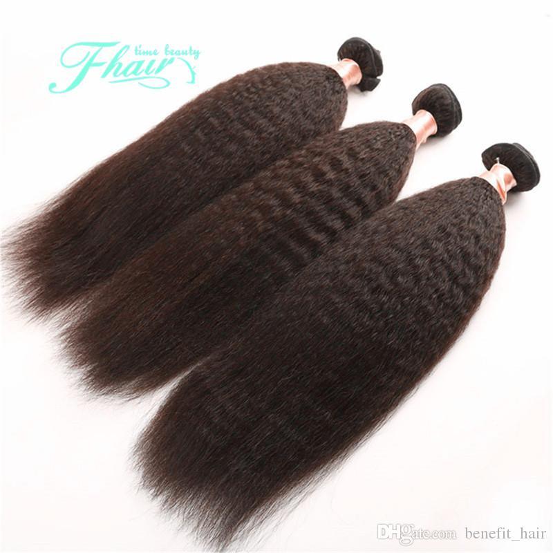 9A 몽골어 야키 스트레이트 거친 인간의 머리카락 3 번들 이탈리아어 야키 스트레이트 직조 머리 확장 10