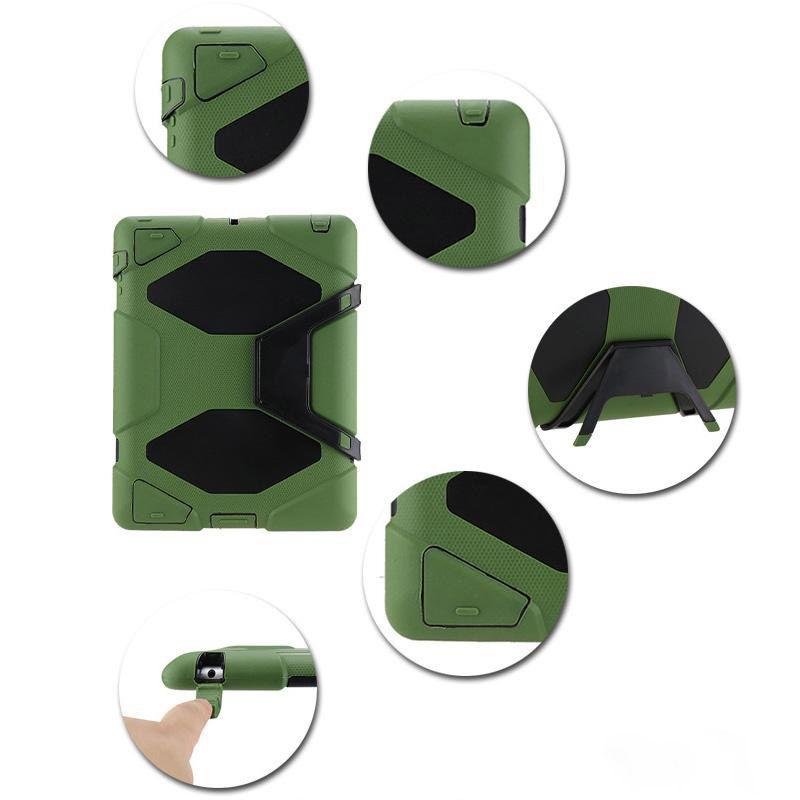 Defender للصدمات روبوت حالة العسكرية الثقيلة غطاء سيليكون مع حامل hoder باد الهواء 3 ipad 234 ipad mini mini4 لسامسونج الحرة dhl