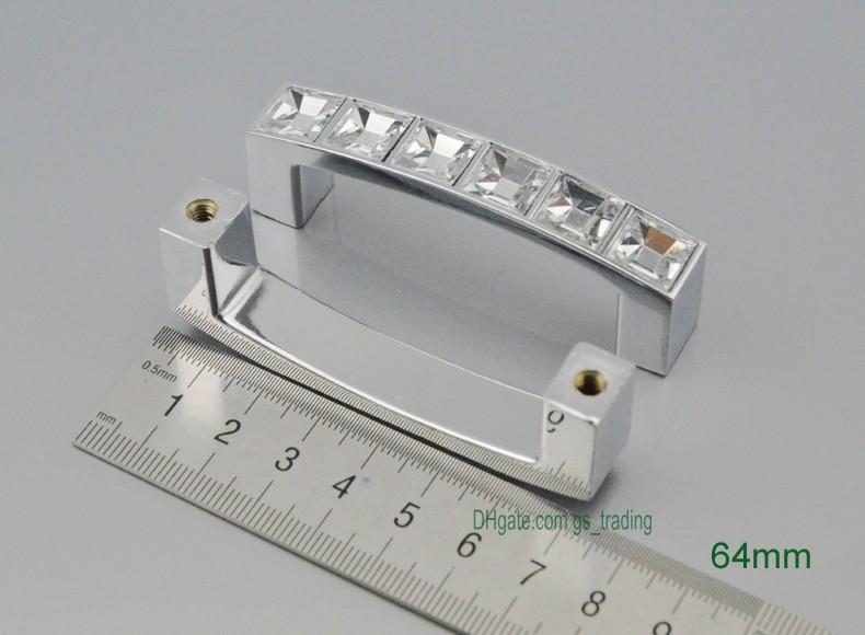 Modern Crystal Furniture Handles Chrome Door Knobs Dresser Drawer Wardrobe Kitchen Cabinets Cupboard Pull Door Accessories