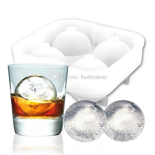 Round Bar Silicon Whiskey Ice Cube Ball Maker Stampo Sfera stampo vassoio del partito E00138 BARD