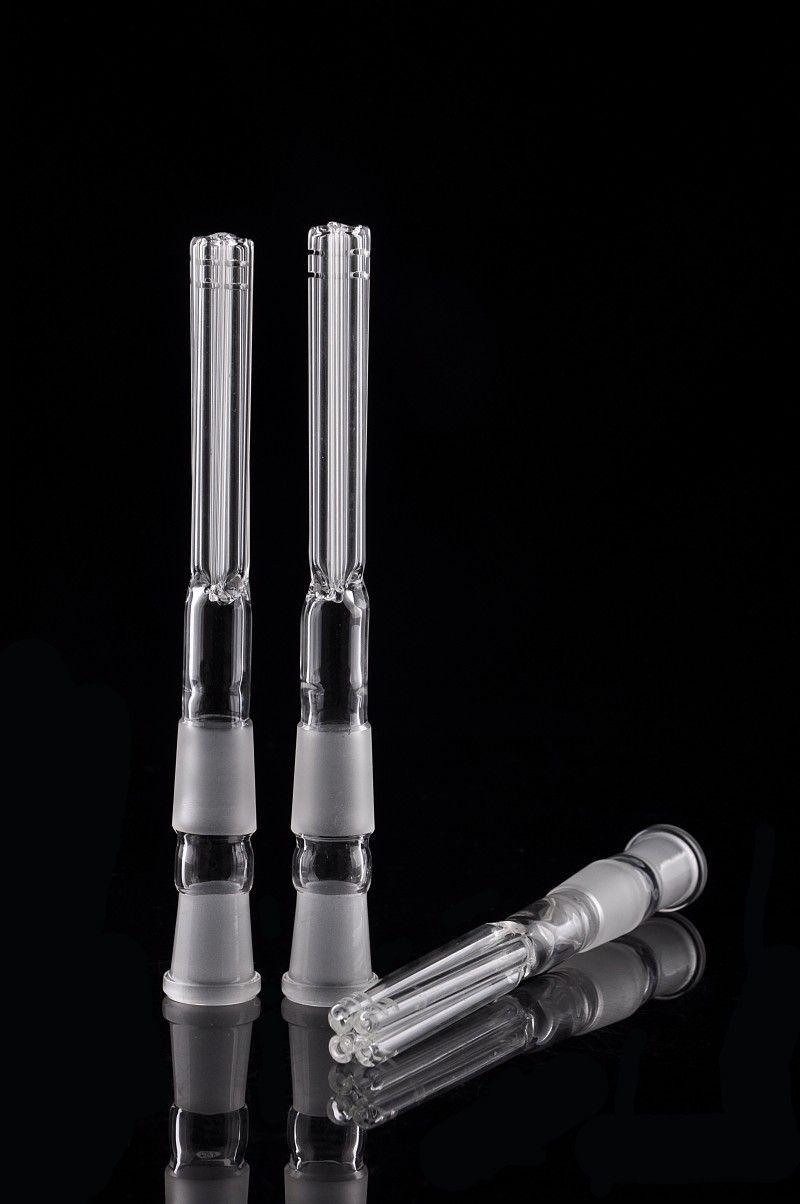 Barato abajo del brazo de vidrio para vidrio tubo de agua bong de fumar 18 mm macho a 14 mm hembra 17 cm accesorio para fumar