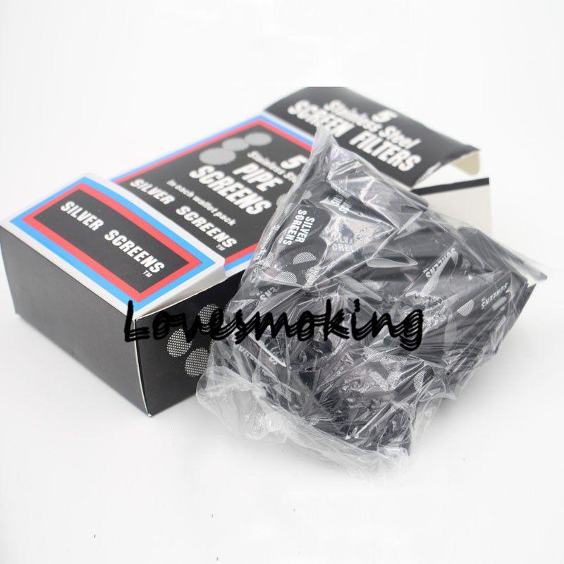 En gros / box 20mm Écran Treillis Pour Écran De Filtre À Fumer Tabac Tabagisme Pipe Écran Filet Maille En Métal Argenté Écrans En Acier