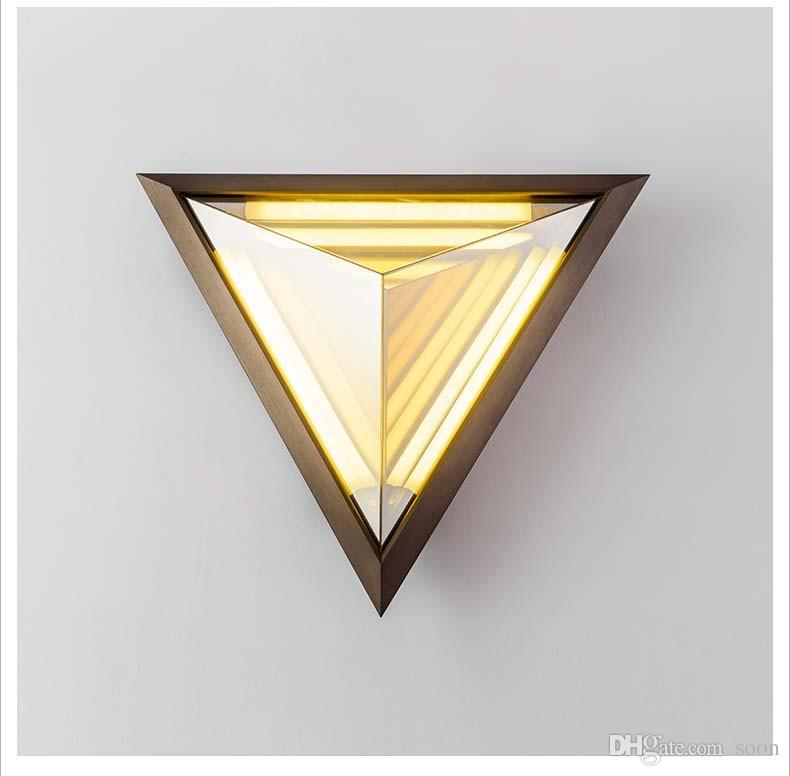 Art Deco Wall Sconces 2017 led triangle wall lamps postmodern personality refraction
