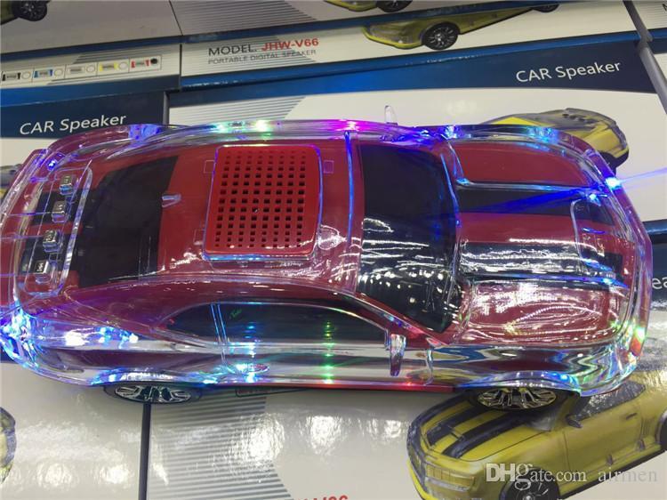 2016 neue Chirstmas Geschenk !!! JHW Auto Modell Lautsprecher LED-Licht Lautsprecher Tragbare Wireless-Lautsprecher mit Bildschirm LED Auto Lautsprecher DHL frei