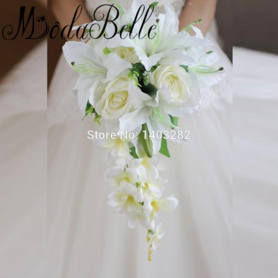 2018 Wholesale 2017 New Style Waterfall Lily Bridal Bouquets