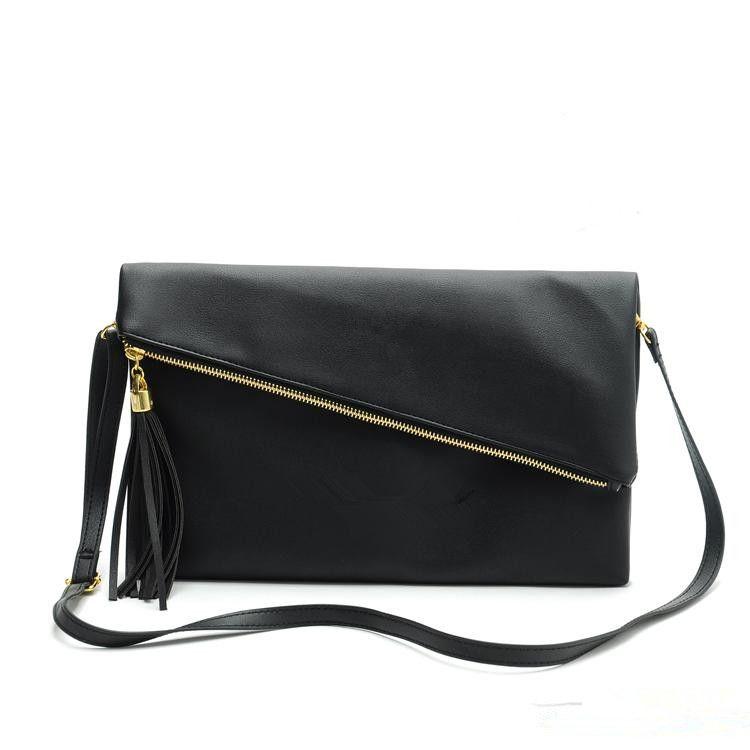 gros sac à main PU motif gland sac à bandoulière maquillage sac 2 couleur option
