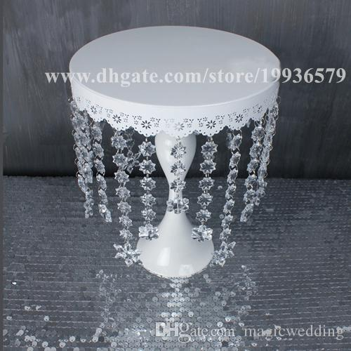 Crystal chandelier iron cake Cupcake Stand Plate Cake Topper of Wedding Birthday Baby Shower Party Decorations