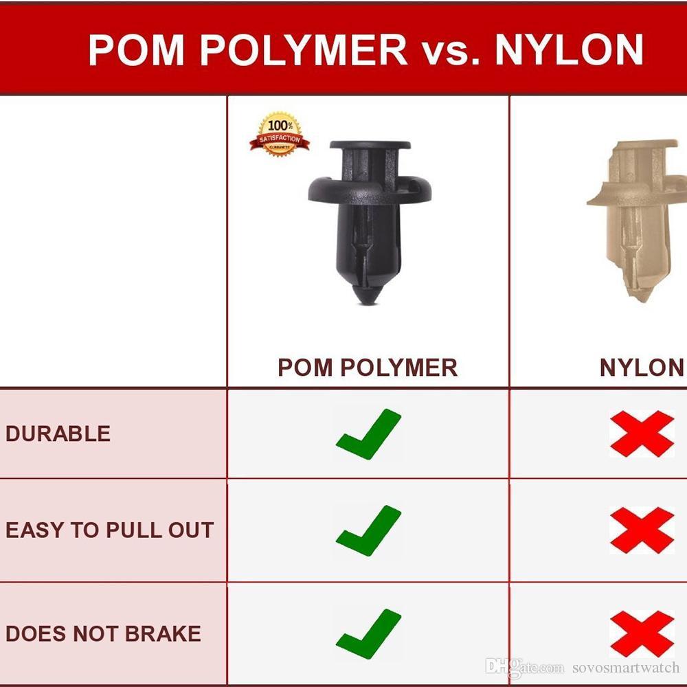 91503-SZ3-003 - Mejor que los parachoques y guardabarros de Honda y Acura originales - El polímero POM extra fuerte no se romperá como el remache de plástico de nylon