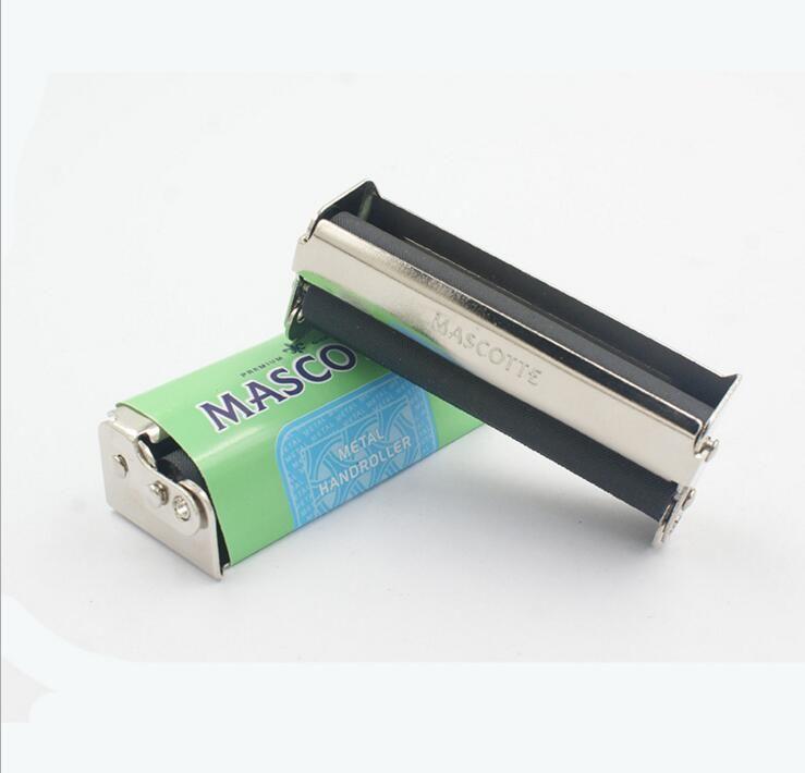 Hookah 70 milímetros Mascotte Handroll manual metal Tabagismo Cigarro Rollbox rolamento de rolos Máquina Box rolo Magro Criador Ferramenta Acessórios