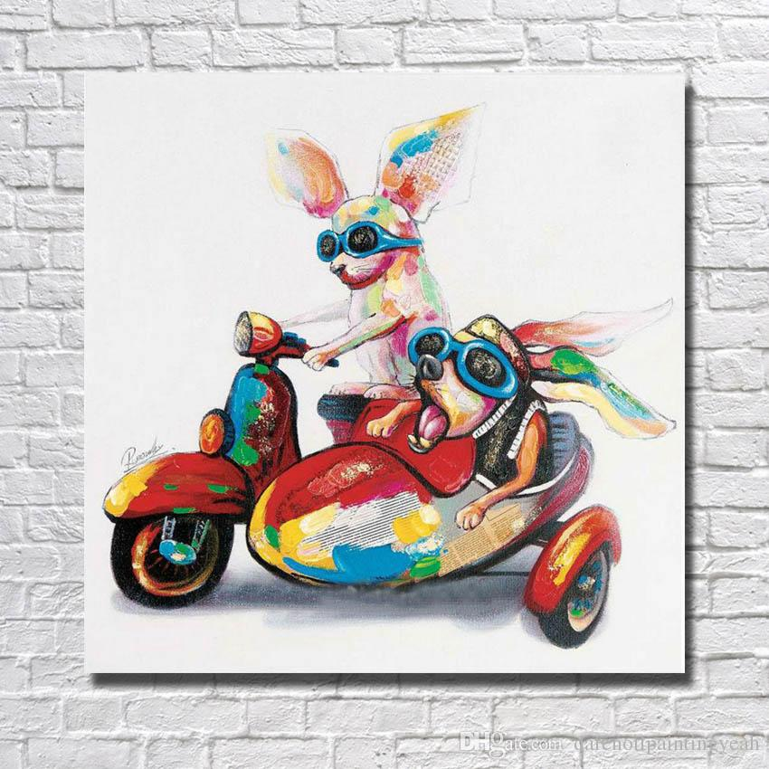 Chinese Oil Painting Funny Animal Pictures Modern Canvas Wall Art Home Decor Living Room Wall Pictures 1 Peices No framed