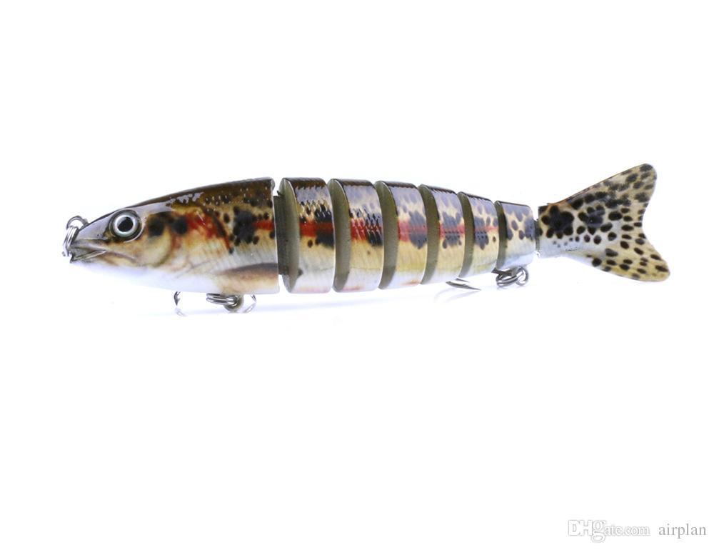 12.5cm 18g Lifelike Wobbler Fishing Lure Multi-jointed 8-segement Crankbait Swimbait Hard Bait Fish Treble Hook Tackle