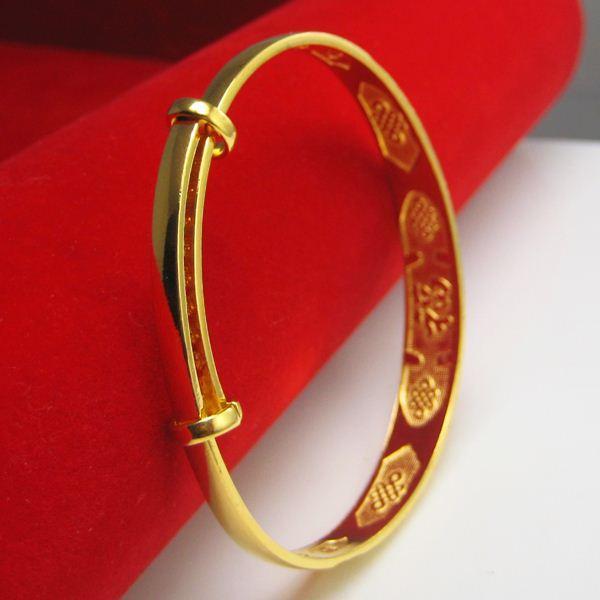 Gold bracelet Longfeng Gold Bracelet Gold Plated 24K thousand thousand children a retro bride wedding jewelry in Hongkong