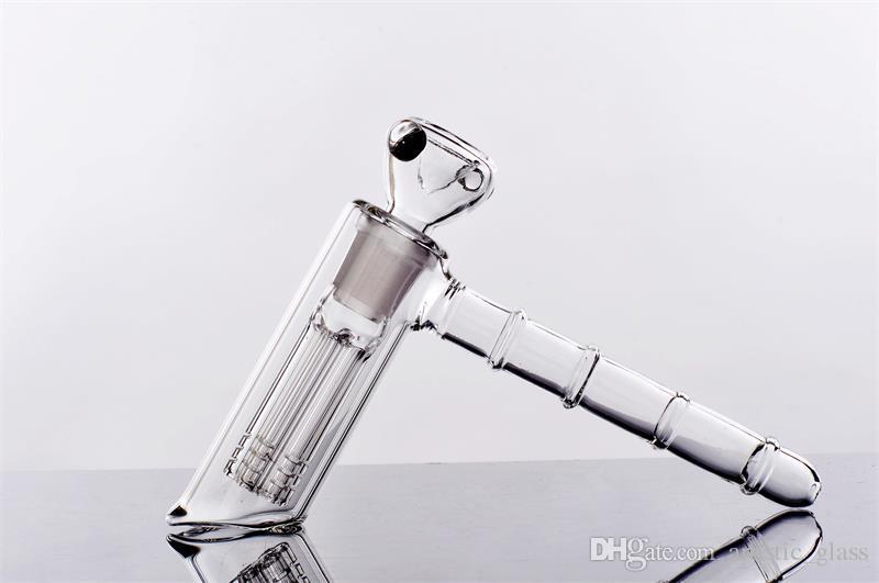 Joint 18.8mm Glass Bongs 14cm Height Glass Bubbler Water Bong Hammer 6 Arm Glass Percolator Bubbler Smoking Pipe Bongs