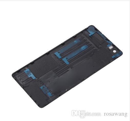 Tampa da porta traseira da bateria para o huawei ascend p8 lite 5 polegada tampa da bateria de vidro habitação + flash + câmera traseira tampa da lente de vidro