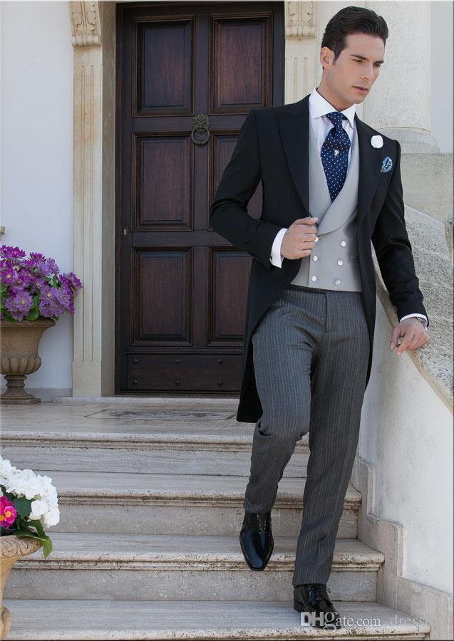 Chegada nova Barato Mens Casamento Ternos Separa Noivo Cauda de Gola Para Homens Groomsmen Formal Negócios Slim Fit Suit Só Para O Casaco