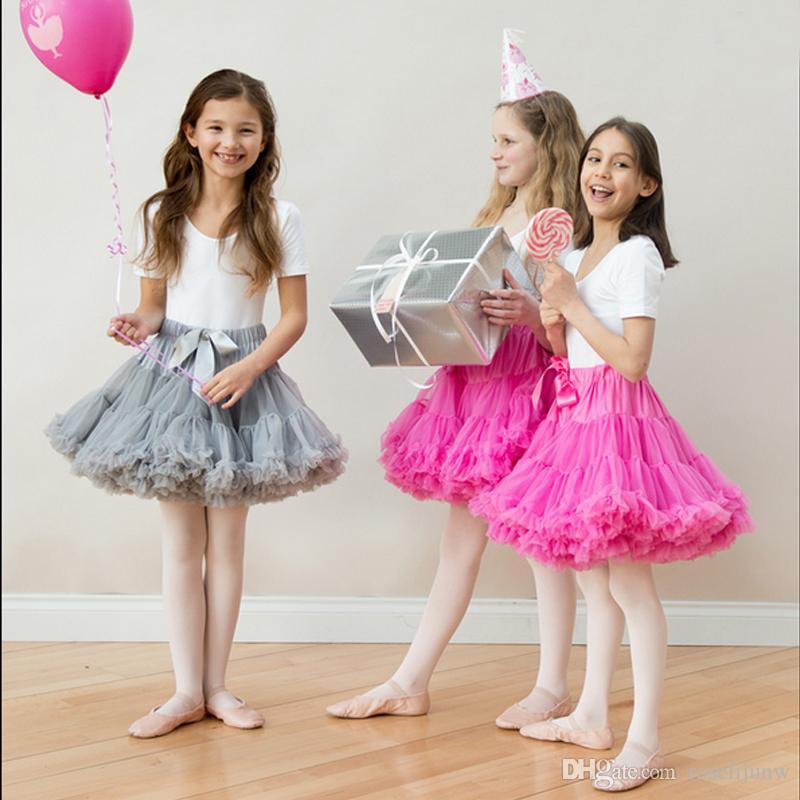Kids Girls Short Skirts Child Solid Tutu Skirt Dance Party Dress For Girl Birthday Gift