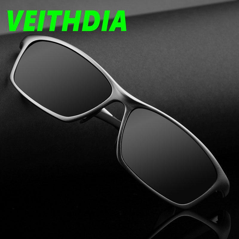 71fbe9024e480 Compre VEITHDIA Marca Original LOGOTIPO Designer De Condução Dos Homens De  Metal De Alta Qualidade HD Polarizada Óculos De Sol Oculos Masculino Óculos  De ...