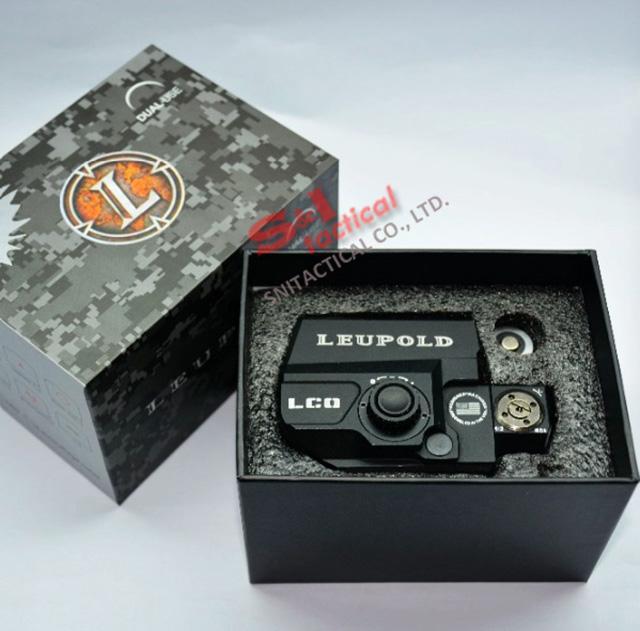 도매 홀로그램 LEUPOLD LCO 스타일 빨간 점 시력 소총 범위는 20mm 레일 마운트 airsoft 블랙에 맞는