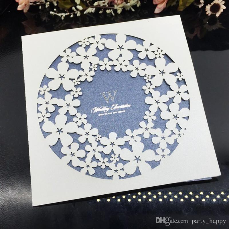 Hochzeitseinladungen Laserschneiden Einladungskarte Für Hochzeit Gold Papier Hohl Geburtstagseinladung Aushöhlen Hochzeitseinladungen Lieferungen